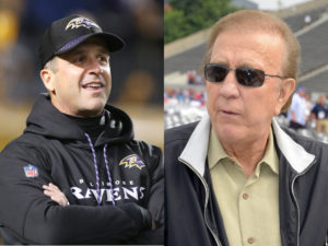 John Harbaugh and Tom Flores