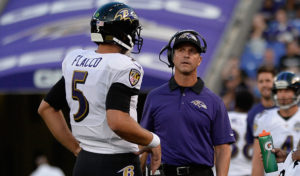 Joe Flacco and John Harbaugh