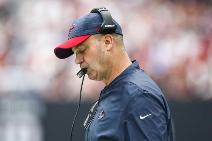 Houston Texans Head Coach Bill O'Brien Feeling the Heat