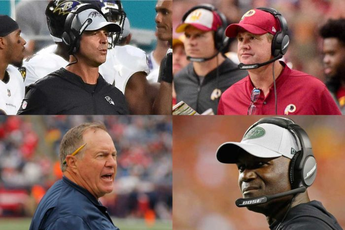 Head Coach Rankings for NFL Week 1