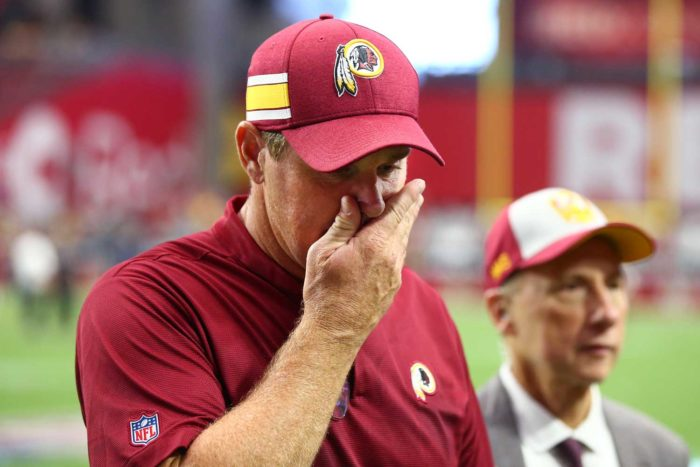 Jay Gruden Feeling the Pressure for Redskins' Controversial Signing of Reuben Foster