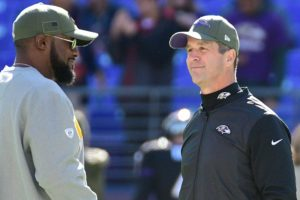 Mike Tomlin and John Harbaugh