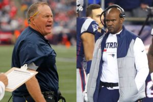 Bill Belichick and Brian Flores