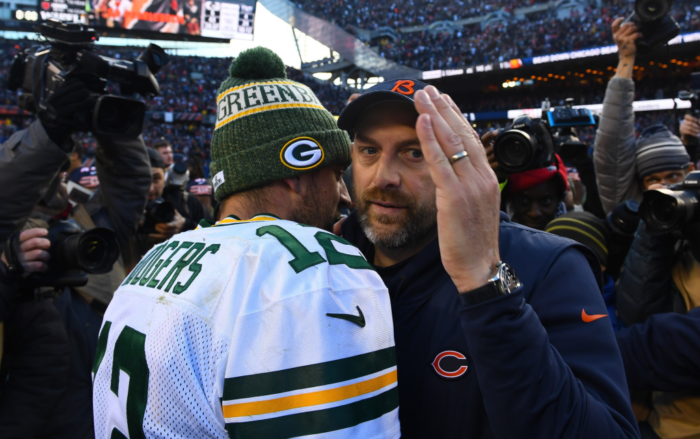 HCR Sees Matt Nagy and Bears Covering vs. Rookie HC Matt LaFleur and Packers in Season Opener