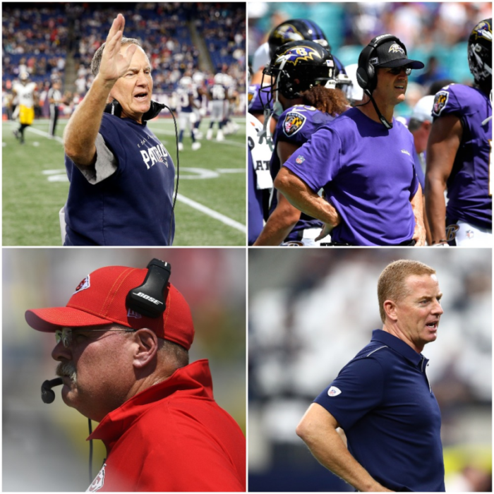 Head Coach Rankings for Week 1 in the NFL